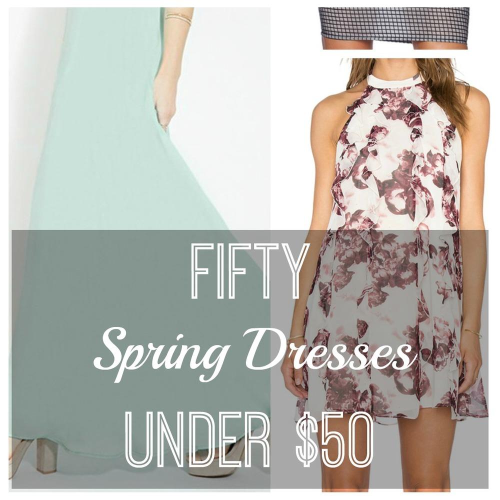 50 spring dresses under $50