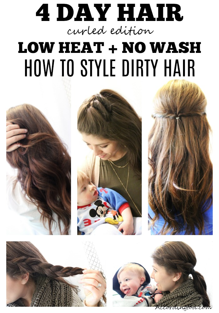 4 day hair curled edition - how to wash and style dirty curled hair.jpg