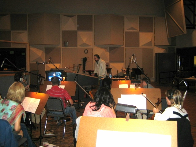 Conducting at Paramount Scoring stages