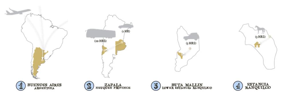 GET TO THE ESTANCIA Estancia Ranquilco - Zapala argentina map