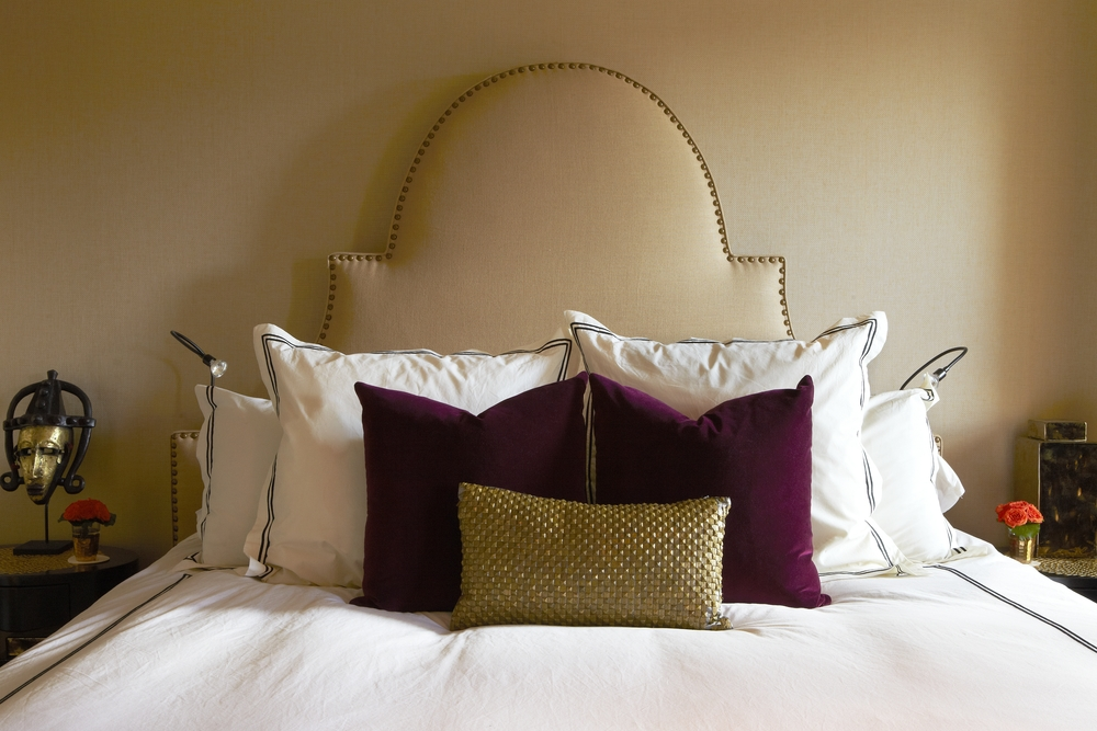 RH sheets in a Moroccan inspired room in Harlem.