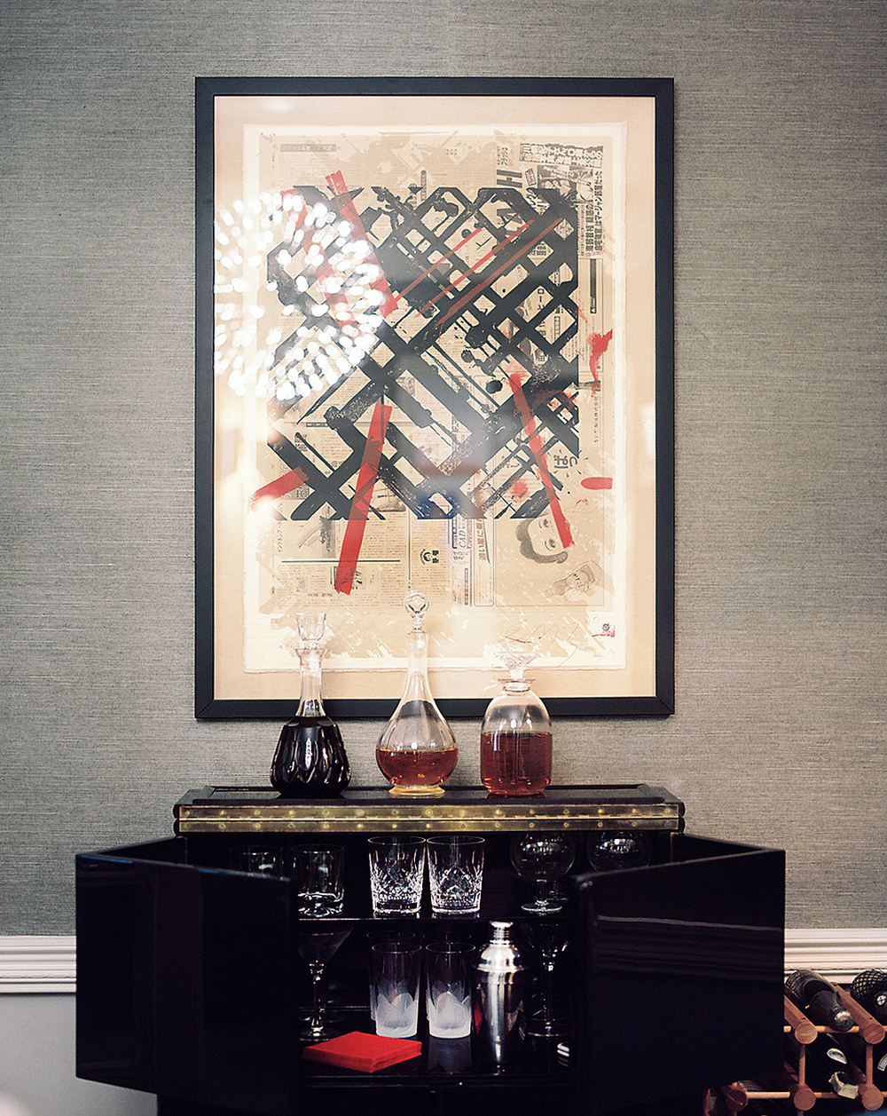 Park avenue deco bar cabinet. Photo by Patrick Cline.