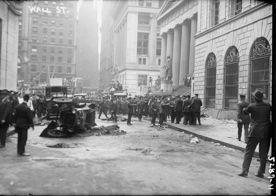 Original image: Wall Street after the explosion.
