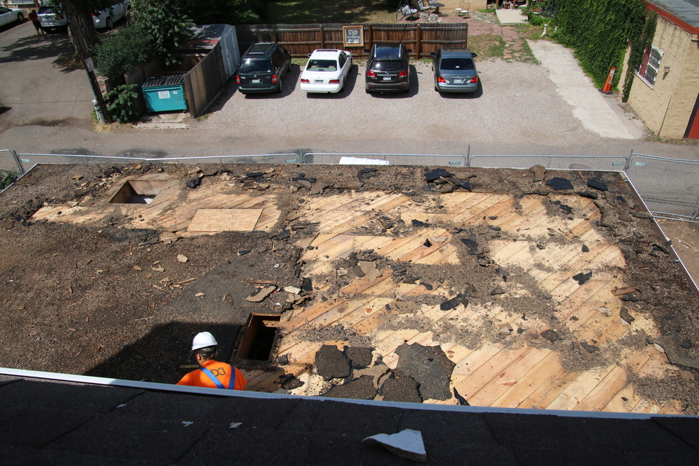 2015-08-03 kitchen roof demo from 3rd floor.JPG