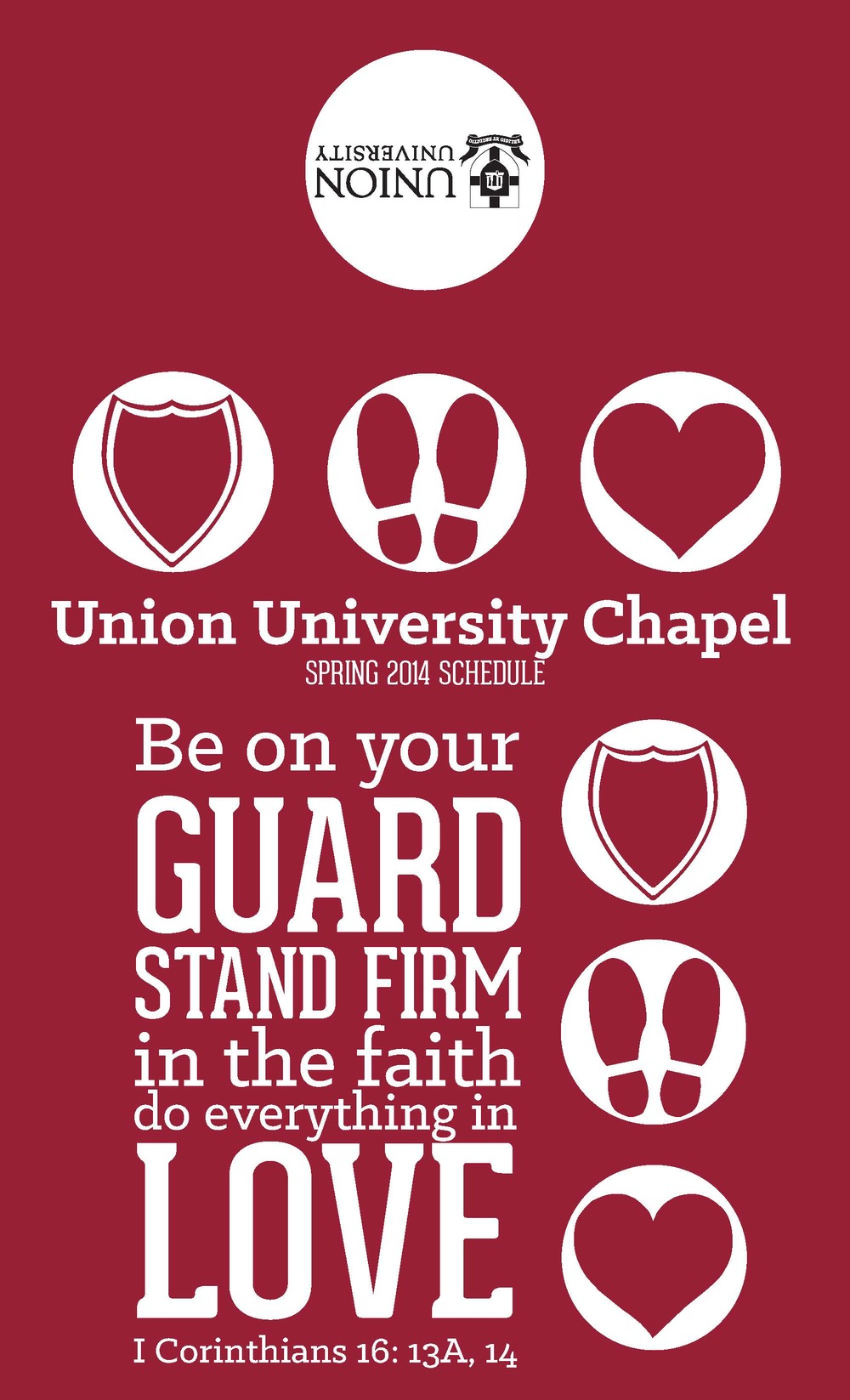 Union University Chapel Brochure, Front