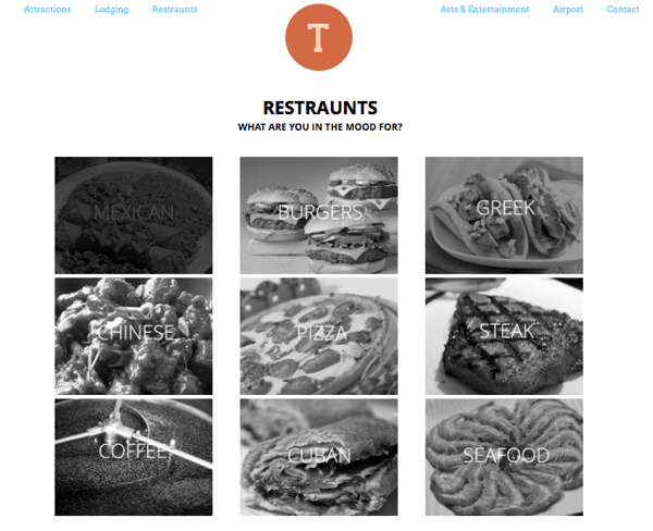 Tampa Website- Restraunts