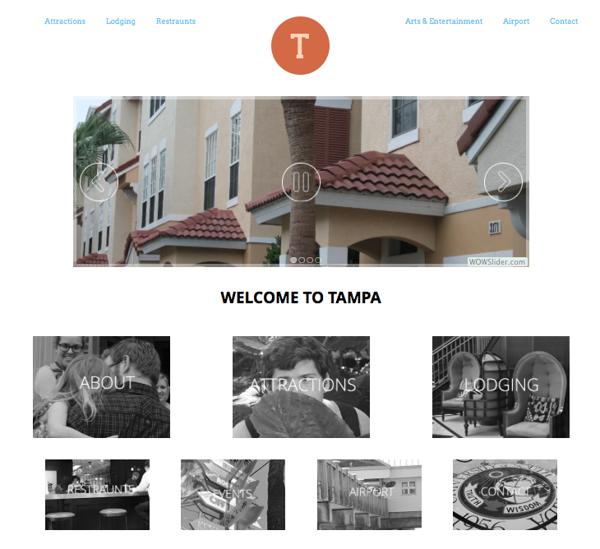Tampa Website- Home Page