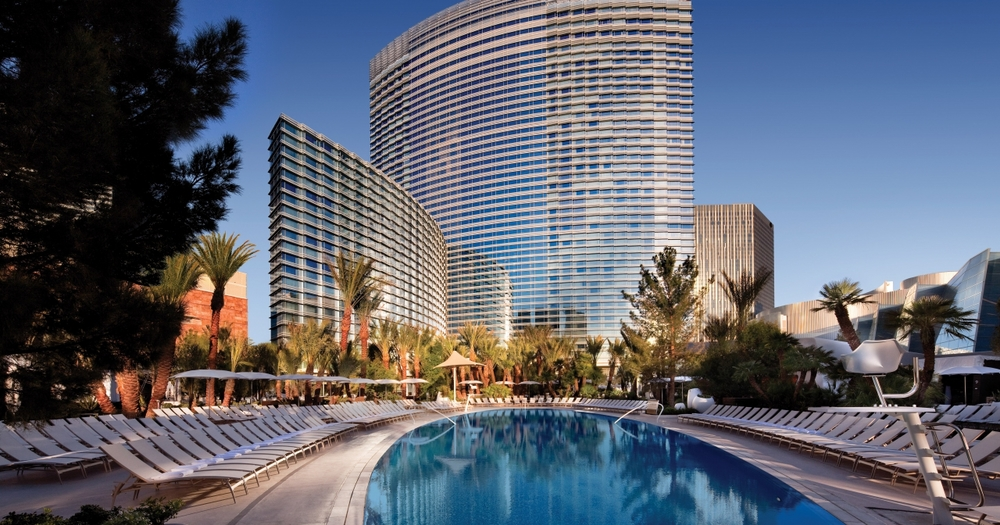 The Aria is perfect for Vegas visitors who want to be in the heart of the action, but still want their vacation to feel like a restful getaway. Source:  Aria