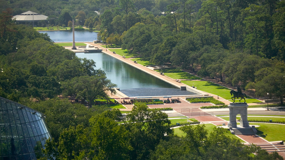 Hermann Park is Houston's most popular public space and includes the Houston Zoo, an outdoor theater and even a golf course. Source:  Tango Diva