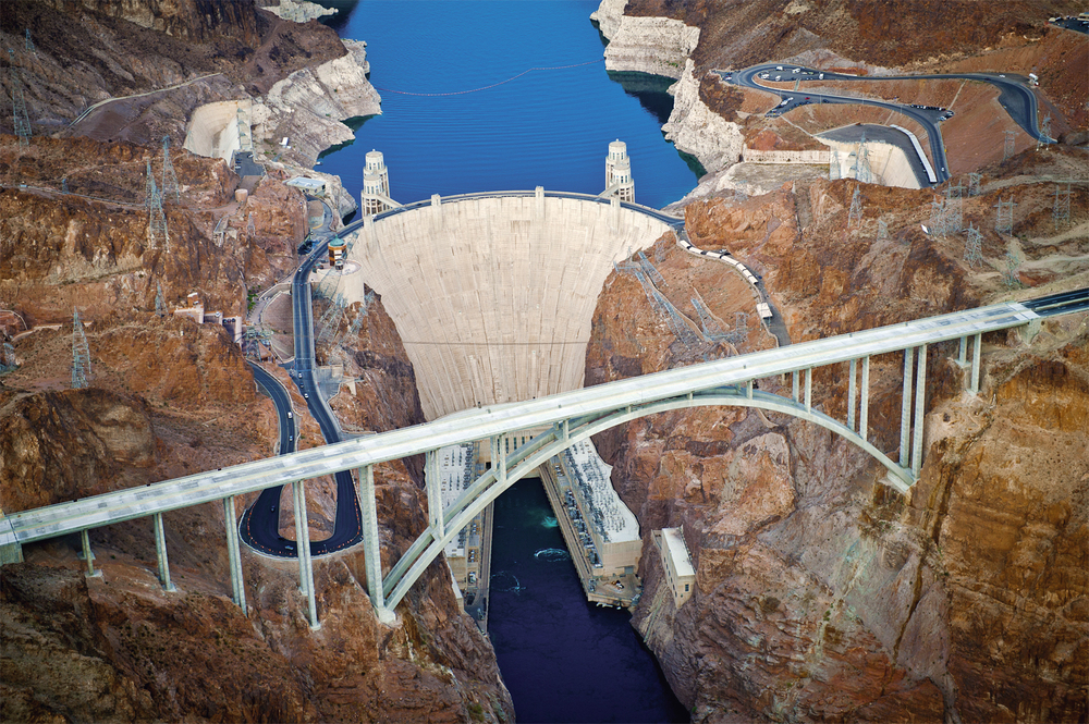This stunning view show the Mike O'Callaghan–Pat Tillman Memorial Bridge, which spans the Colorado River to connect Arizona and Nevada. Source:  HDR Inc.