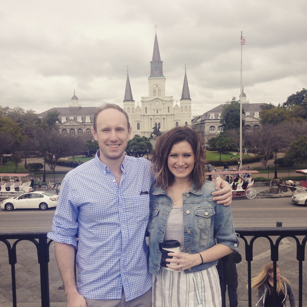 Seeing the sights of Jackson Square, in between coffee at  Spitfire  and beignets at  Cafe du Monde .