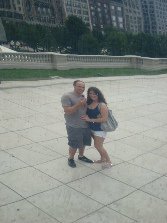 Pre-Chicago resident tourists at Cloud Gate.
