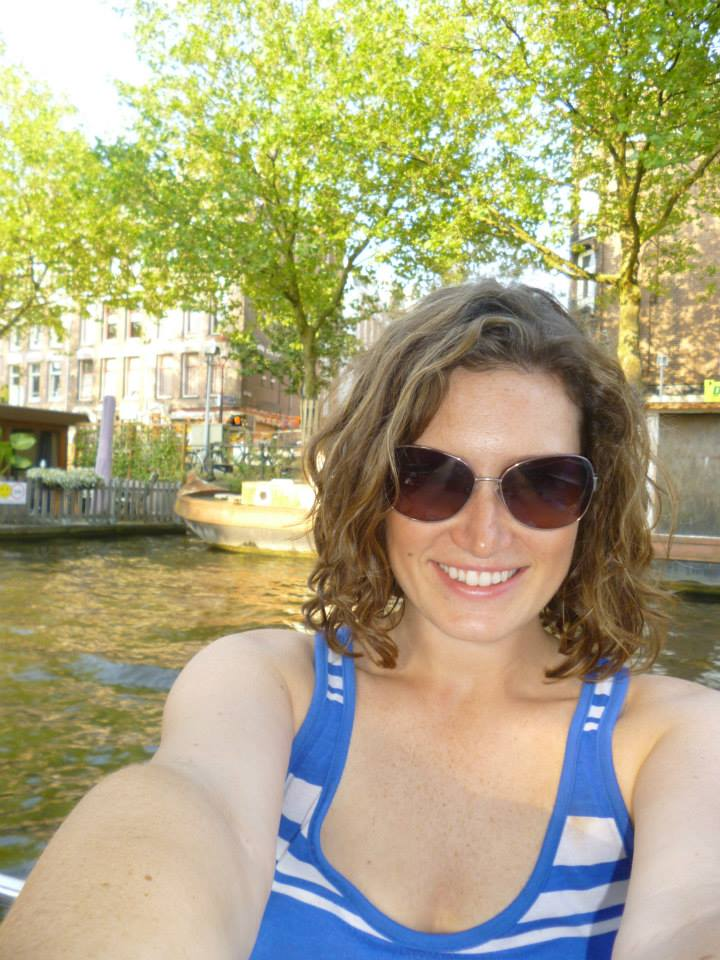 Cruising the canals of Amsterdam, thanks to our  Boaty Boat .