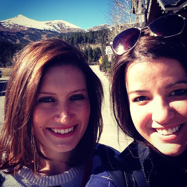 Shopping the day away in beautiful  Breckenridge .