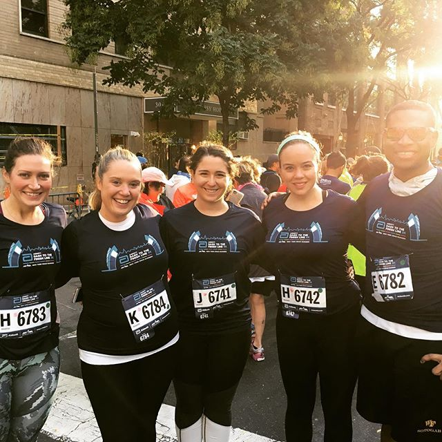 Bright and early and 5k down! #teamtcs #tcsnycmarathon #fhny