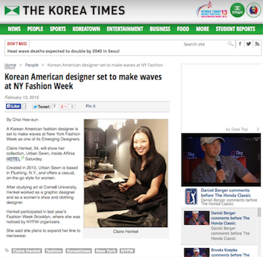 korea times claire henkel