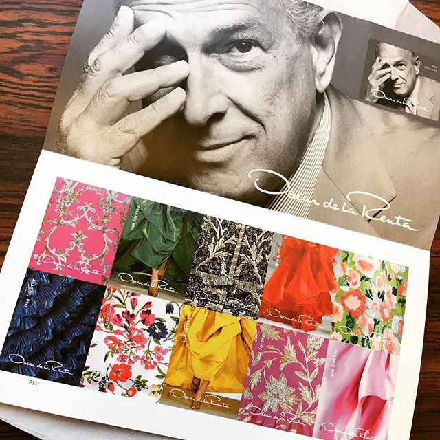 Beautiful Oscar de la Renta stamps!! In love ❤️😍😍 #oscardelarenta