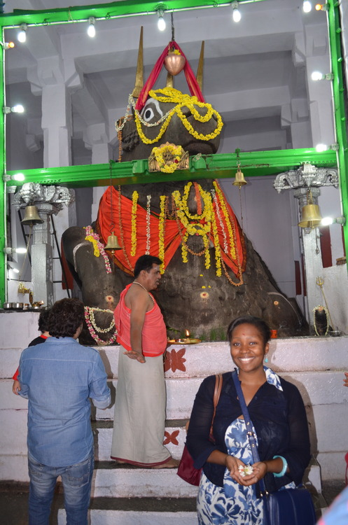Tendai visiting Bull Temple in Basavanagudi, Bangalore