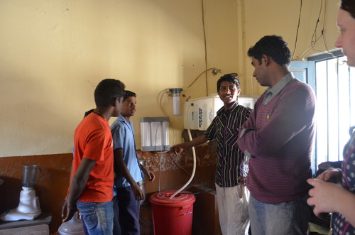 Water filtration system at Ulsoor Government School