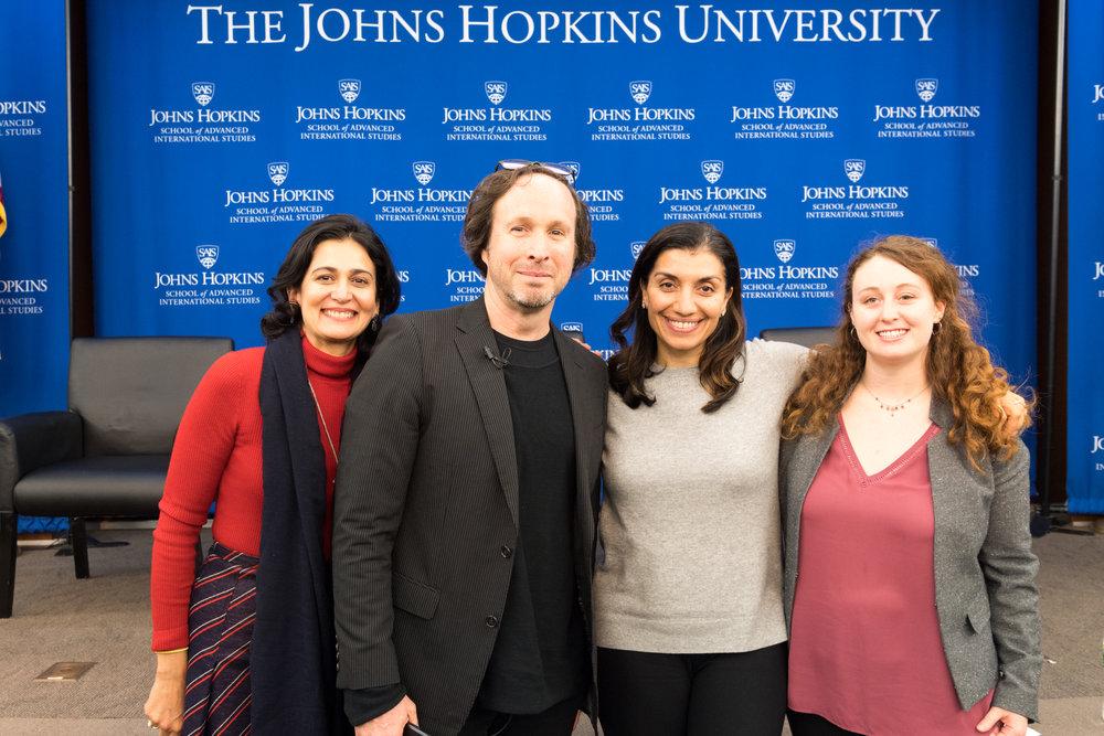 From left: Tanvi Nagpal, James Whitlow Delano, Shamila Chaudhary, and Maya Gainer