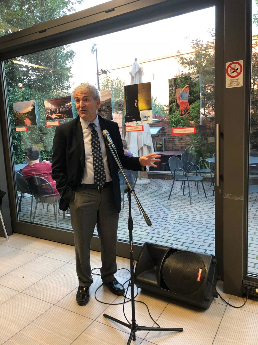 SAIS Europe Director Dr. Michael Plummer spoke at the Bologna event