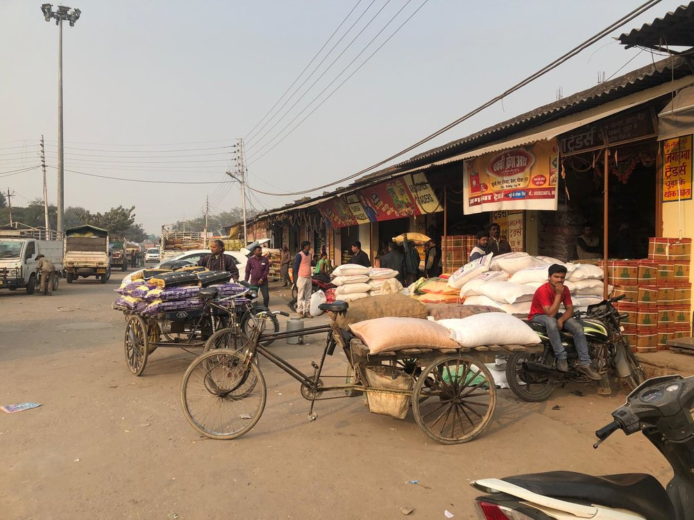 Larger-scale grain traders at the market in Gorakhpur, the city closest to Pharenda