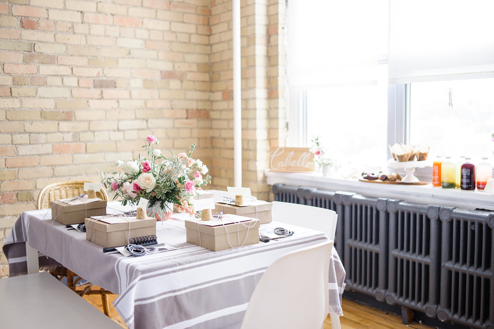 A beautiful set up from one of our special workshops held in  Smithery Style Studios   Photo Cred:  Heidi Lau Photography