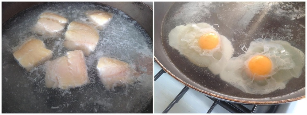 Haddock and eggs are treated very gently