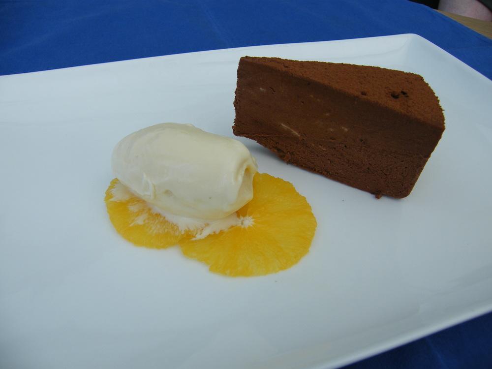 dark chocolate and star anise truffle cake