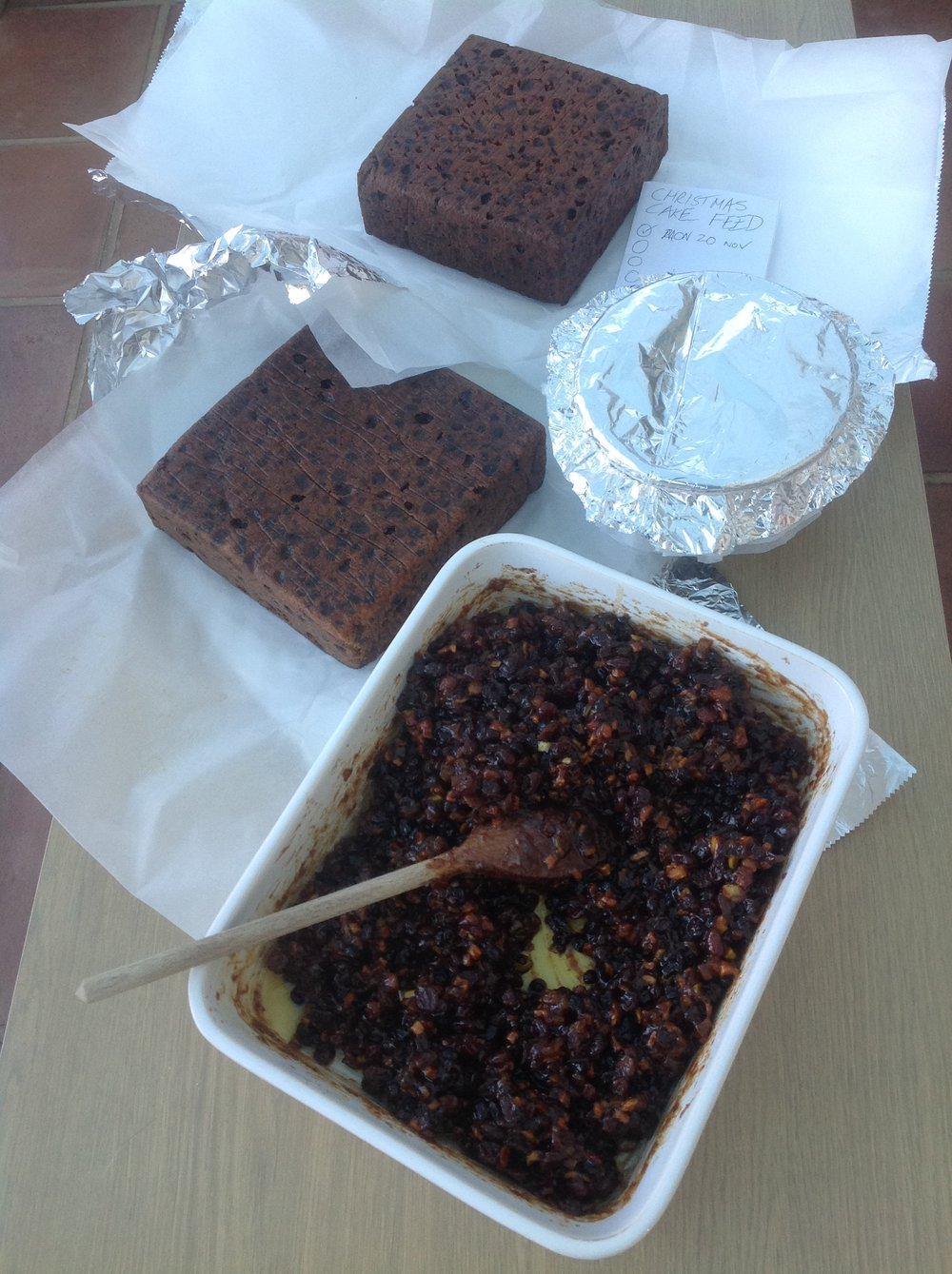 #NoHardFeelings - Last week in the kitchen produced a Creole Cake, a Christmas Cake, a Christmas Pudding and Mincemeat... all from Delia's seasonal recipes.