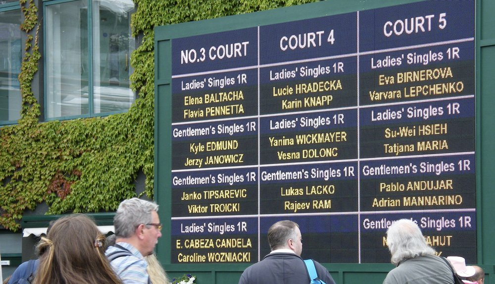 Our No. 3 Court schedule on the day... accent on the Brits!