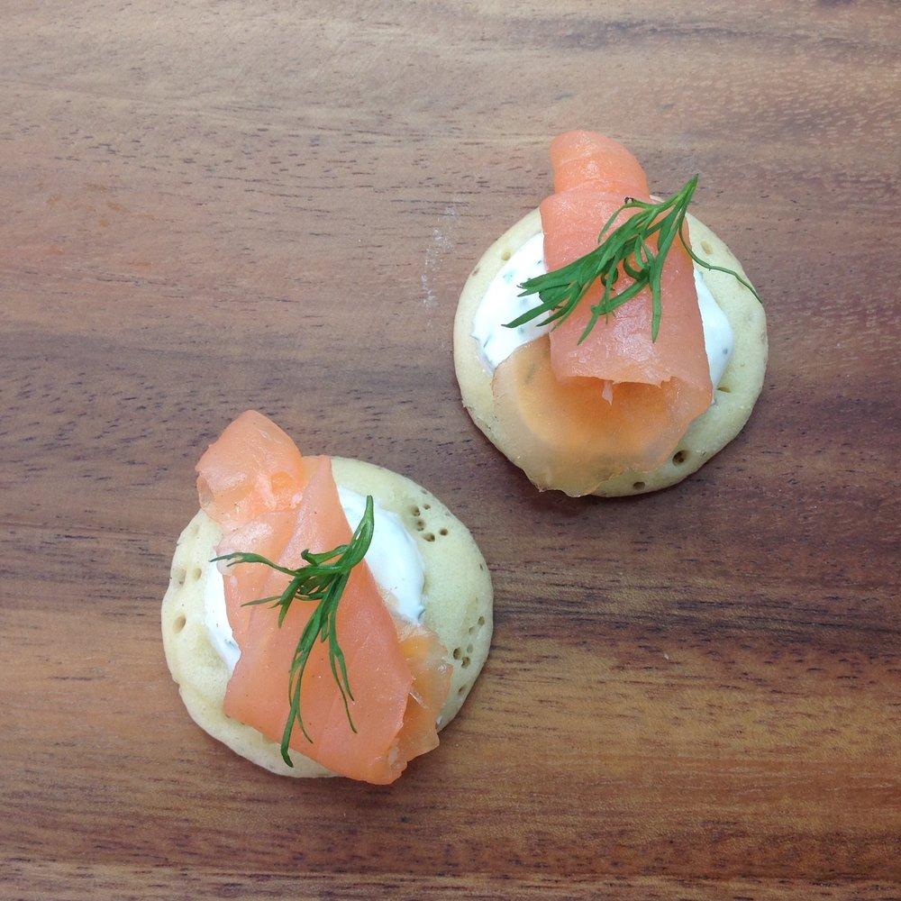 Smoked Salmon & Dill Crème Fraîche Blini