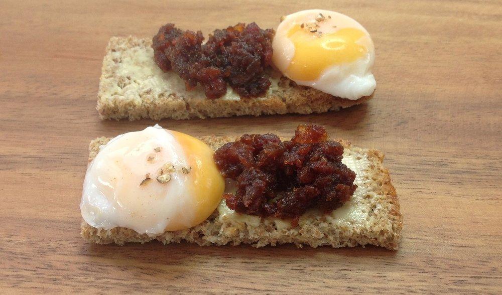 Quail Egg & Chorizo Jam Toast
