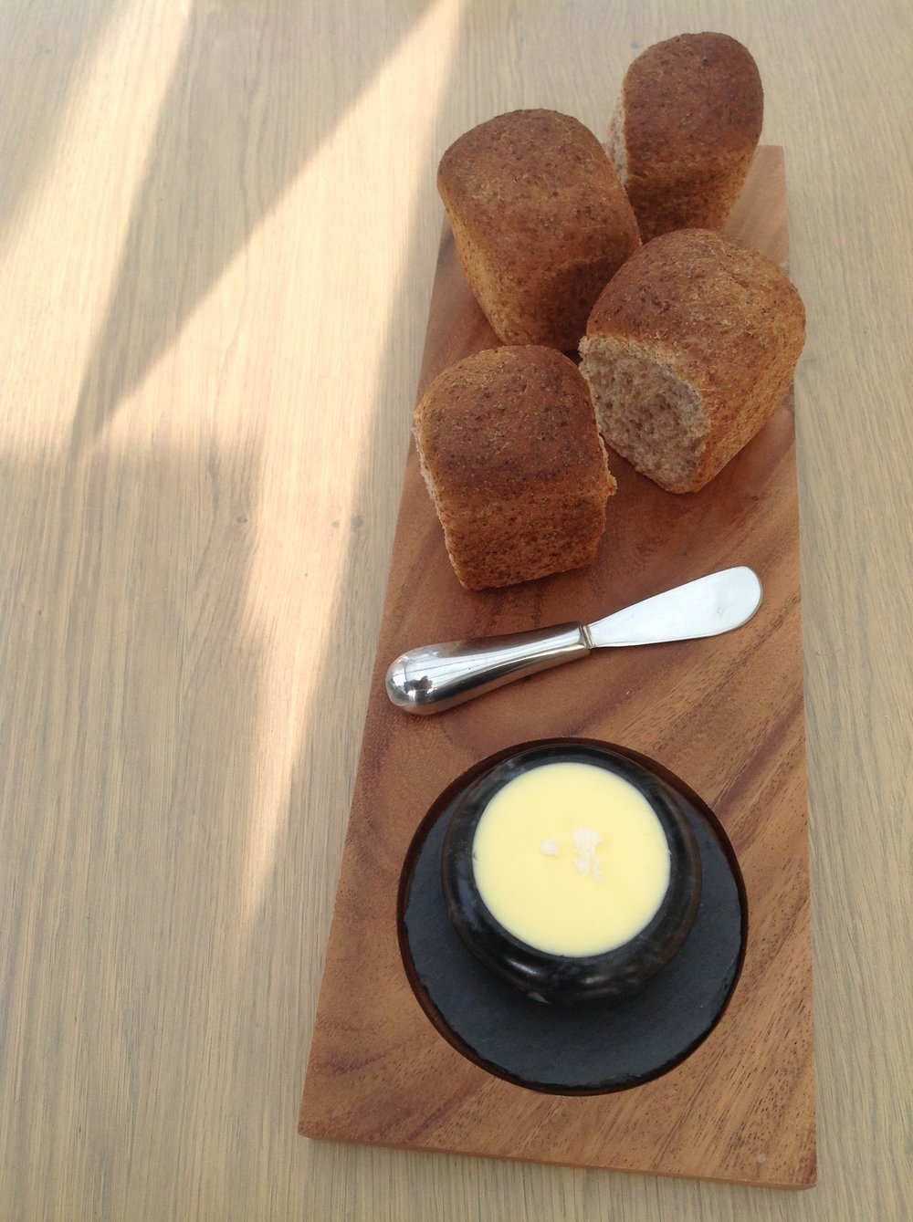 Wholemeal Bread Rolls & Salted Butter