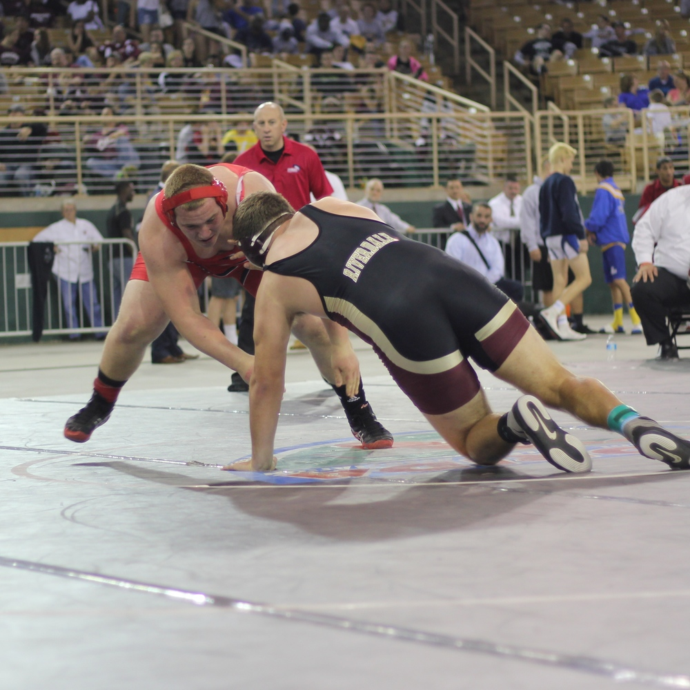 Schneider beat Beyer 7-6 ot to win the 2015 2A 285 lb. title