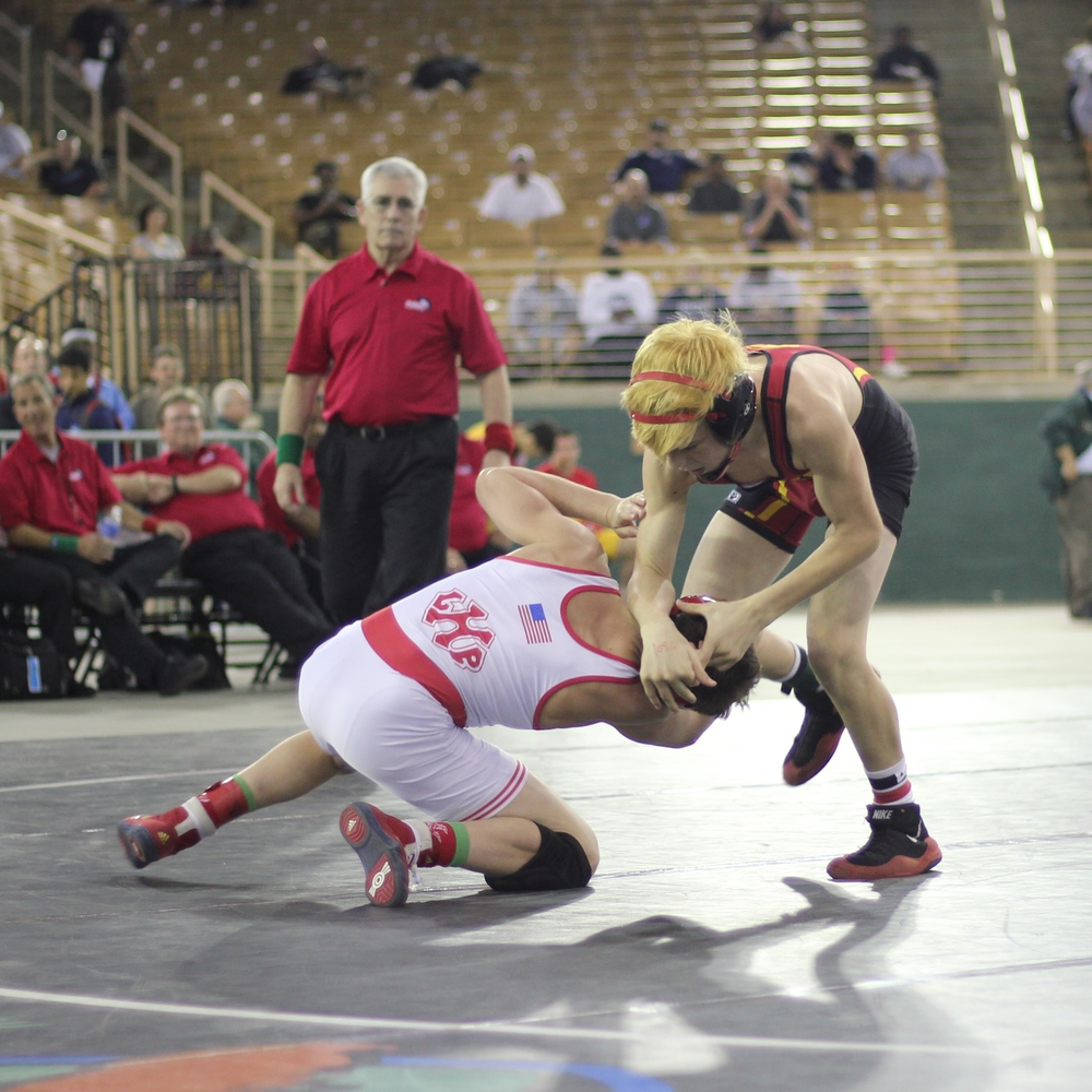 Wohltman downed Conrad 10-5 to win the 2015 1A 106 lb. title