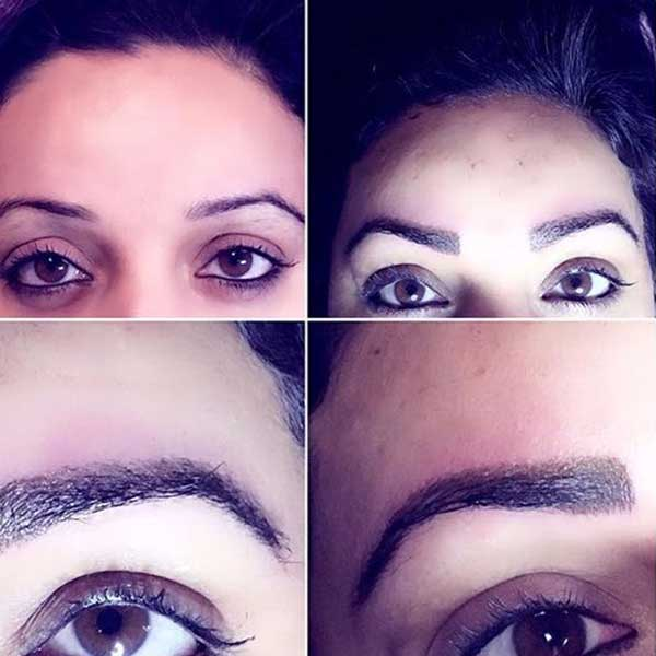 Microblading Before and After at Drama Queen Studios