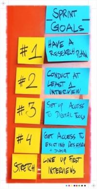 Sprint planning - sprint goals
