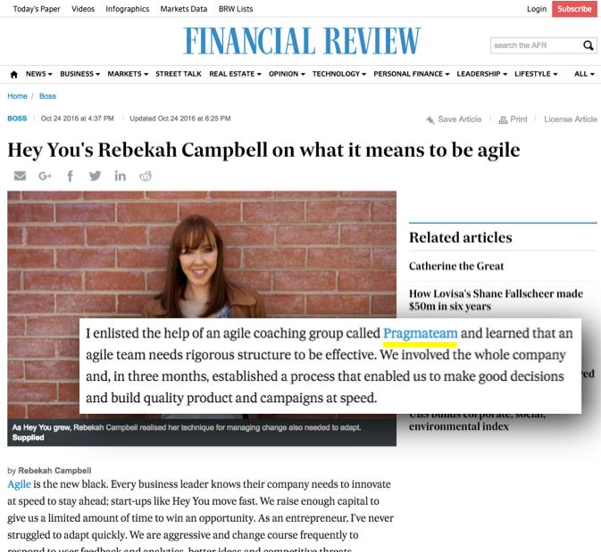 Hey You Pragmateam Financial Review