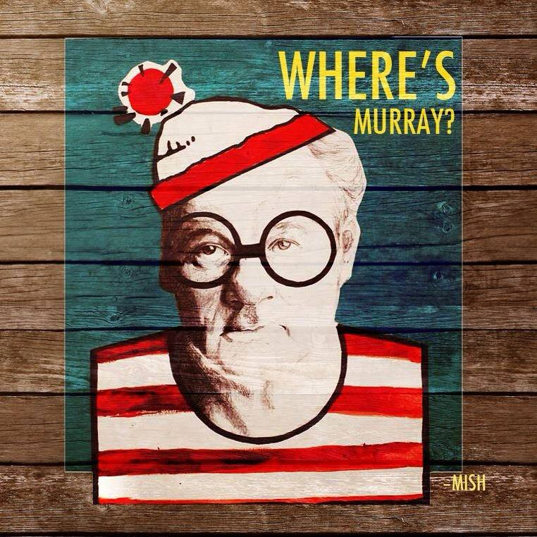 Poster design for the Where's Murray Art show on June 17, 2014.