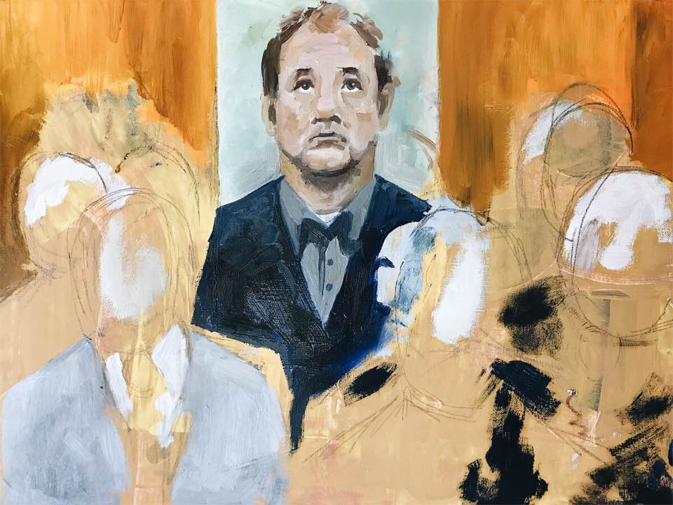 "Bill Murray in ""Lost in Translation"". 24x36 Oil on Canvas."