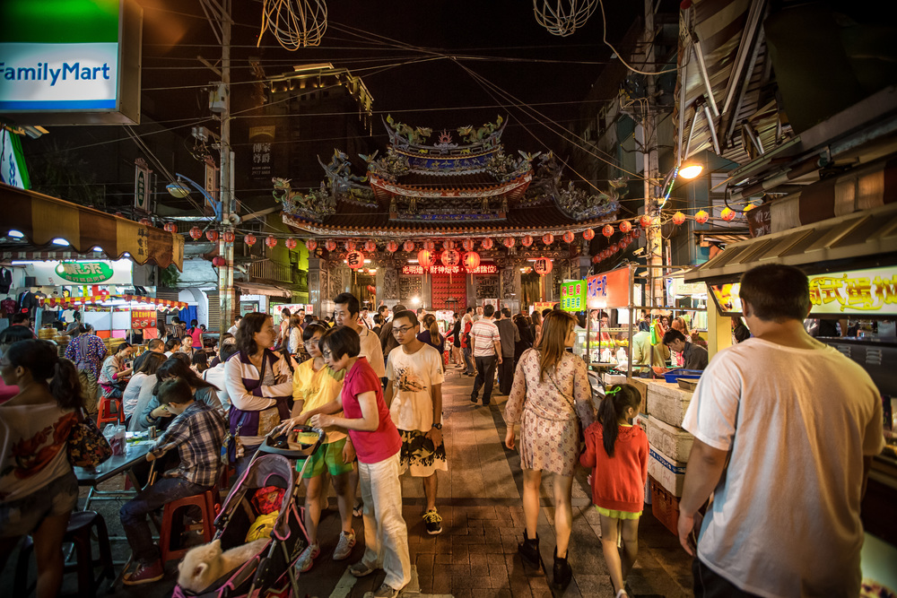 The area is much busier at night where you can enjoy lots of street food