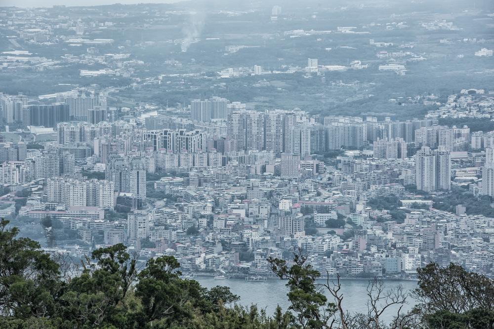 -Danshui (淡水) from Guanyin Mountain