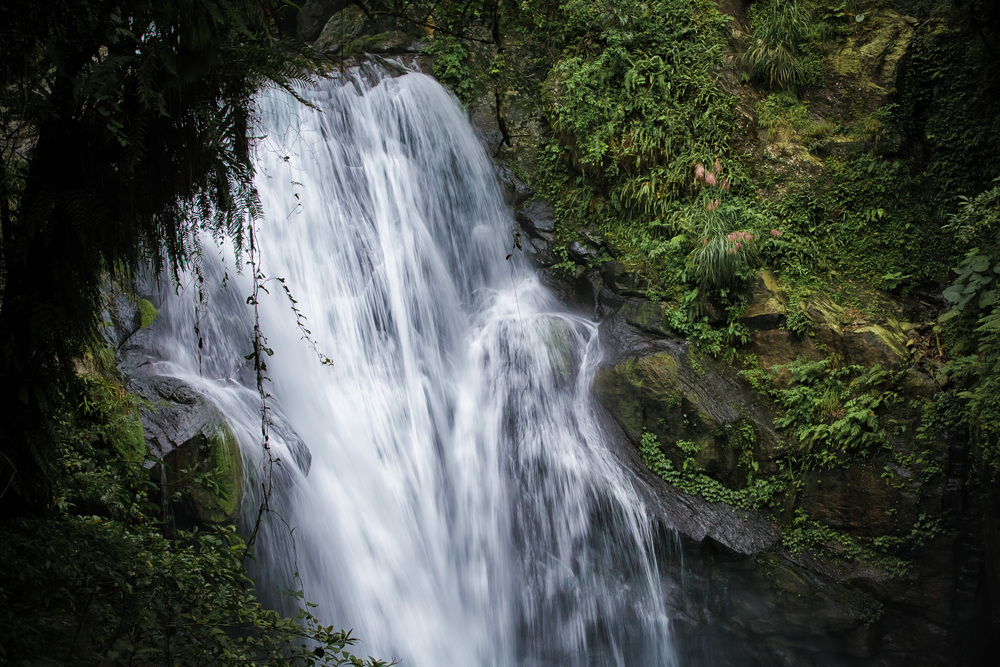 The second tier of the Xinxian Waterfall