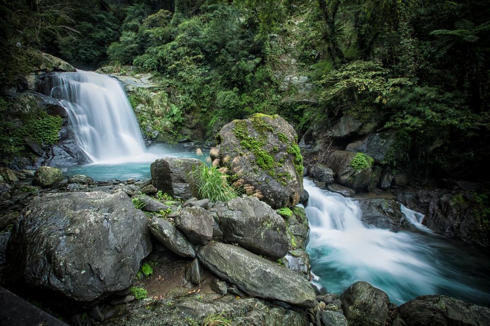 The top tier of the Xinxian Waterfall