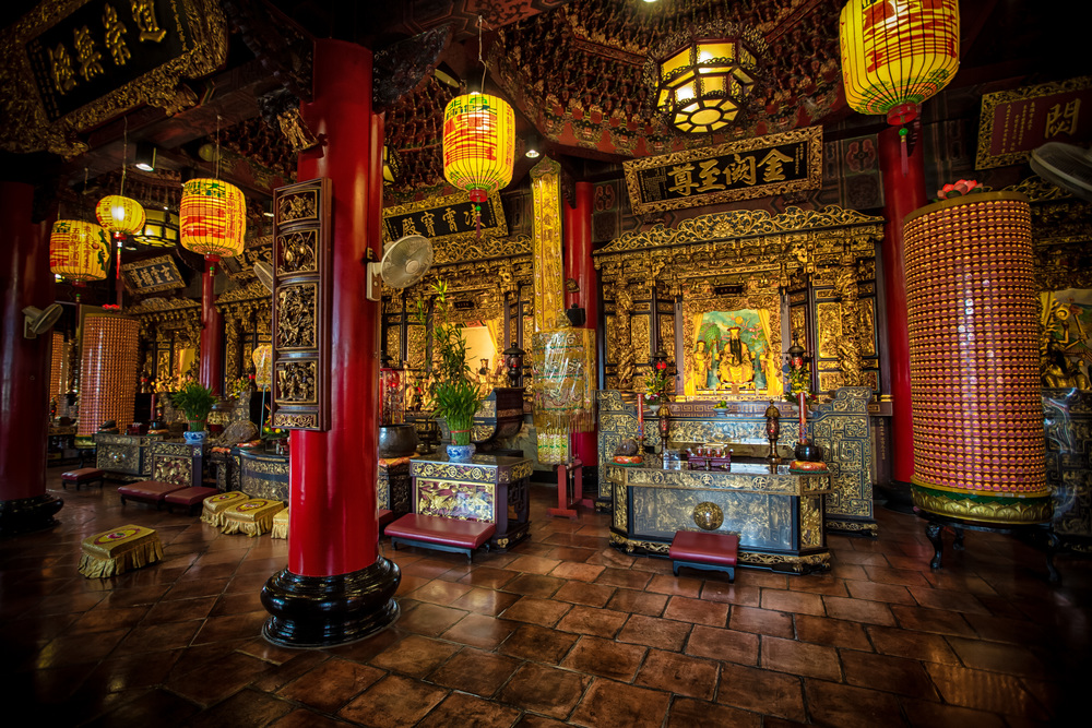 - On of the many shrine rooms atBao-An Temple (保安宮)