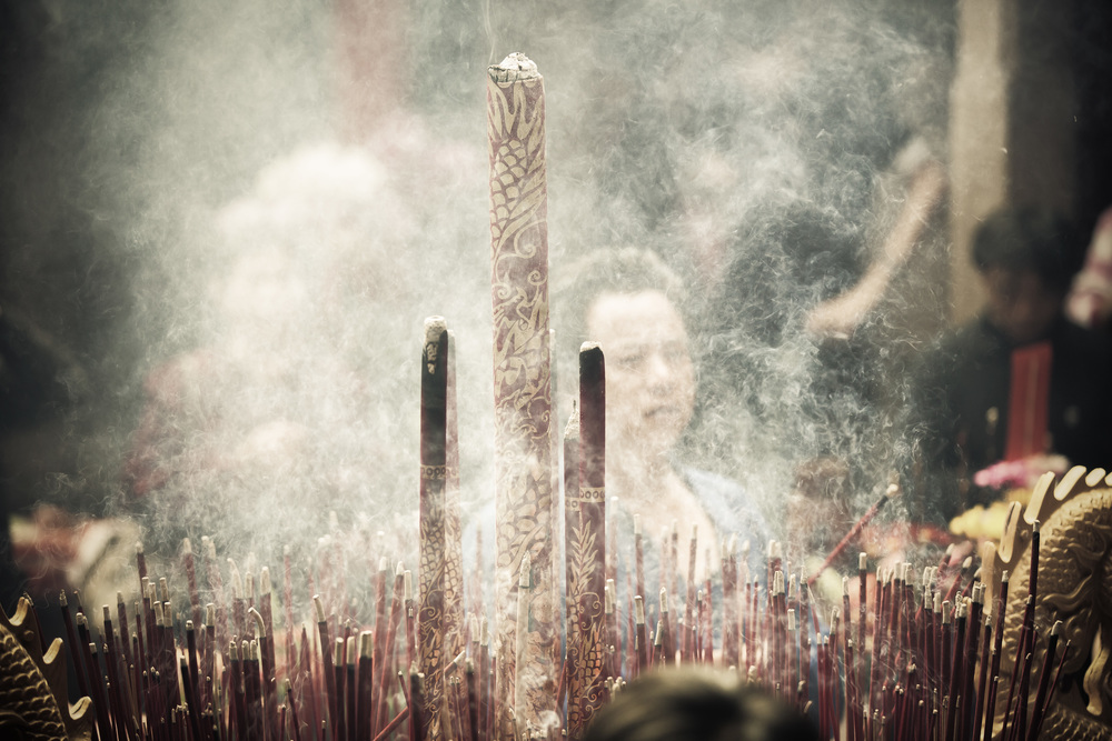 Thick Incense Smoke at Yimin Temple