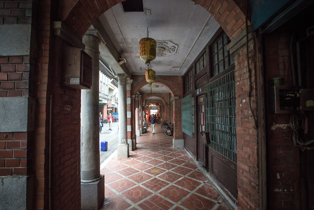 Sidewalks on Daxi Old Street