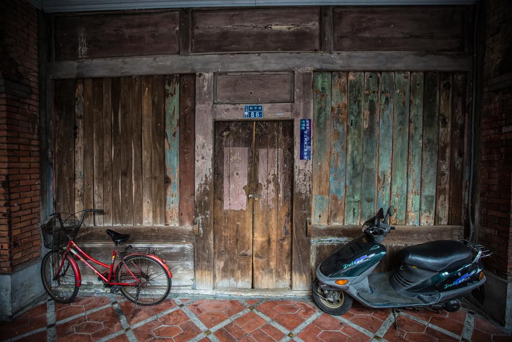 A door with parking.