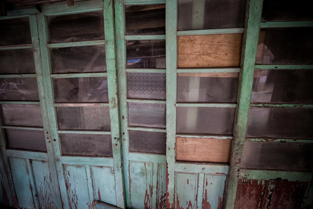 Old sliding panel doors